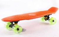 Скейт Penny Board LED Wheels Fish Sk-405-3 оранжевый
