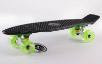 Скейт Penny Board LED Wheels Point Fish Sk-405-7 черный