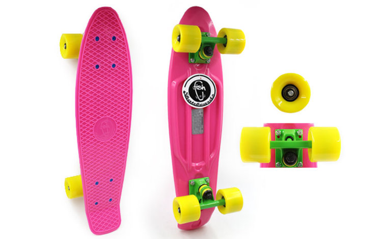 Скейт Penny Board SK-403-1 Color point fish розовый