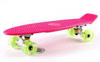 Скейт Penny Board LED Wheels Point Fish Sk-405-5 малиновый