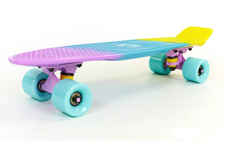 Скейт Penny Board Color Fish SK-402-7 Pastel